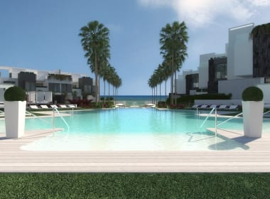 The-Island-estepona-townhouses-beach-new-build-for-sale-Marbella-Callow-estates-Costa-del-Sol-properties-pool
