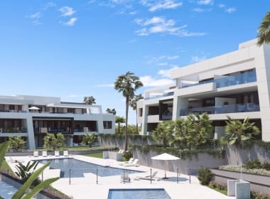 Vanian-Green-Village-apartments-estepona-new-build-for-sale-Marbella-Callow-estates-Costa-del-Sol-properties-pool